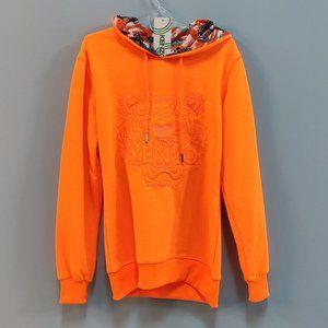 Kenzo Tiger Pattern Full Orange Women Sweatshirt